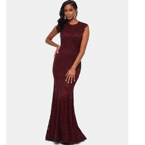 All over lace mermaid gown by Betsy & Adam